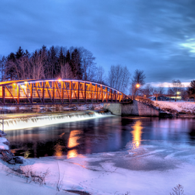 Canal Park bridge by Blaine Stauffer - City,  Street & Park  City Parks ( water, winter, park, bridge,  )