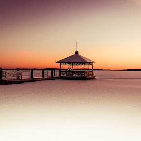 Hiukka Beach, Sotkamo, Finland by Simon Lambert - Landscapes Beaches ( sunset, hiukka beach, pier, finland, minimal )