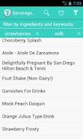 Screenshot of Beverages Recipes