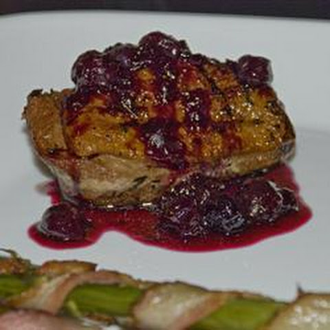 Duck Breast with Blueberry Sauce