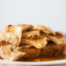 Open Faced Turkey and Gravy Sandwich