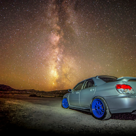 Car and stars by Bill Higginson - Transportation Automobiles ( car, stars, automobile, milky way )