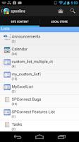 Screenshot of SPConnect SharePoint