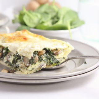 Vegetable Lasagna with Spinach and Mushrooms