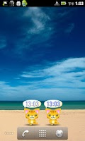 Screenshot of Neko-chan Clock