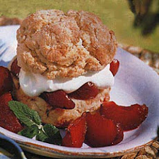 Oatmeal Shortcakes with Spiced Plums