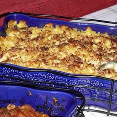 Sweet Kugel With Apple Sauce