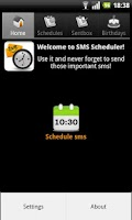 Screenshot of SMS Scheduler