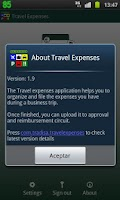 Screenshot of Tradisa Travel Expenses