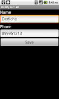 Screenshot of SIM contacts manager