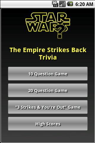The Empire Strikes Back Trivia