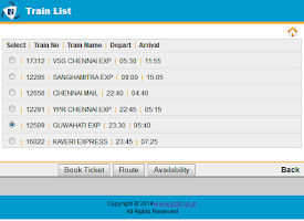 Screenshot of IRCTC Insta Booking