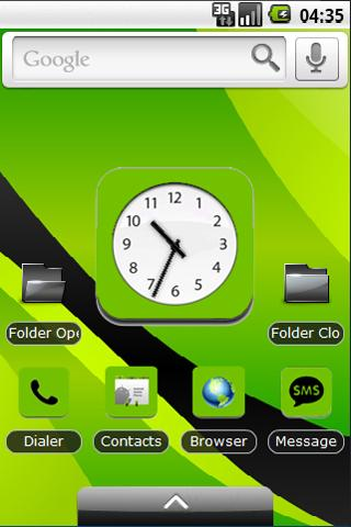 Green and Black Theme
