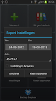 Screenshot of CTA Rit Registratie FULL