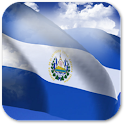3D El Salvador Flag + icon