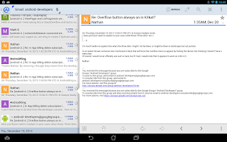 Screenshot of Aqua Mail - email app
