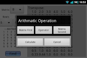 Screenshot of Matrix Calculator (Advanced)