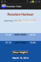 Screenshot of Rosslare Tides