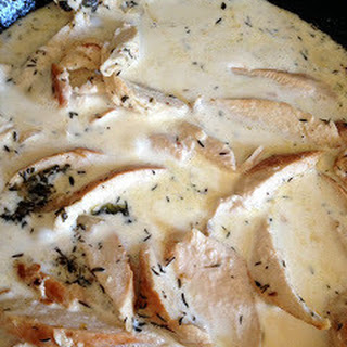 White Wine & Garlic Cream Sauce