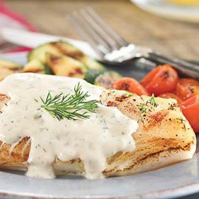 Cod With Mustard–dill Sauce