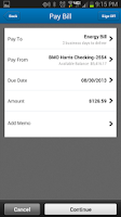 Screenshot of BMO Harris Mobile Banking
