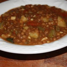 Lentil and Cactus Soup (Mom's Recipe)