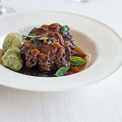 Braised Oxtail With Basil Dumplings