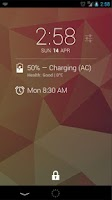 Screenshot of DashClock Battery Extension