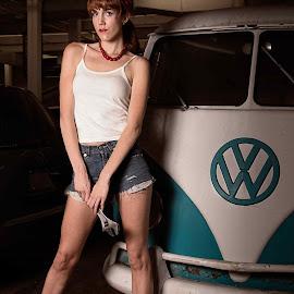 Garage Girl by Jeff Dugan - People Fashion ( sexy, editorial, garage, legs, pin up, volkswagen )