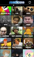 Screenshot of Reacticons -funny texting pics