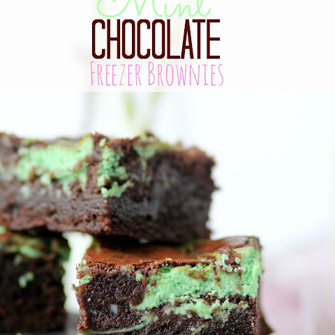 Mint Chocolate Freezer Brownies