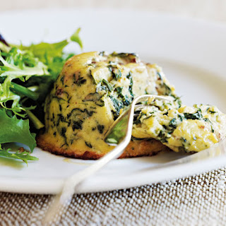 Goat's Cheese & Spinach Souffles