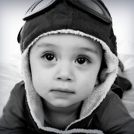 by Angie Constable - Babies & Children Babies ( baby portrait, black and white, baby, close up, boy,  )