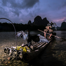 Guilin Fisherman by Fuad Rahim Asman - People Portraits of Men