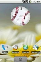Screenshot of Baseball Clock Widget 2x2