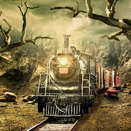 Night train by Rizal Harahap - Digital Art Things