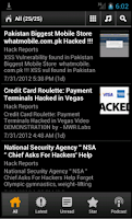Screenshot of Hack Reports