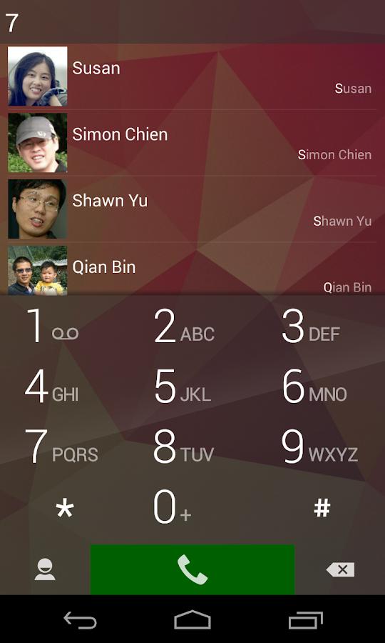 ExDialer - Dialer & Contacts – Screenshot