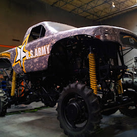 by Tom Carson - Transportation Automobiles ( army, monster, truck, recruiting, recruiter, monster truck, military )
