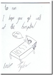Tylers get well card inside