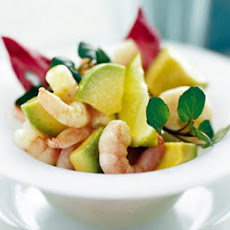 Avocado Prawns In Wasabi Dressing