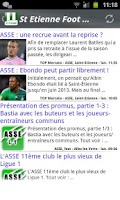 Screenshot of Saint-Etienne Foot News