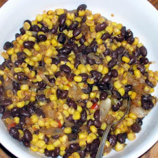 A Side of Black Beans and Corn