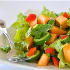 Spinach Cantaloupe Salad with Mint