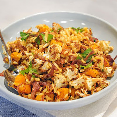Kamut Berry Pilaf with Butternut Squash and Cauliflower