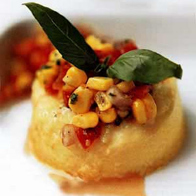 Sweet Corn Flans with Tomato-Corn Relish