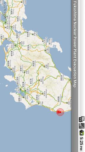 福島核电站避难区域地图 工具 App-愛順發玩APP