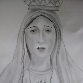 Mother Mary by Roshni Joshi - Drawing All Drawing ( sketch, mary, drawing )
