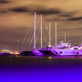 Violet dreams by Alexander Hadji - Transportation Boats ( dreams, color, violet, yacht, sea )