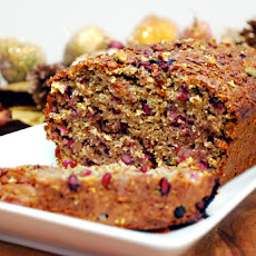 Pomegranate & Pistachio Banana Bread